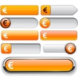 Euro high-detailed web button collection vector | Price: 1 Credit (USD $1)