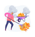 fall clean-up abstract concept vector image vector image