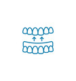 false jaw linear icon concept false jaw line vector image vector image