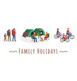 family holidays set vector image