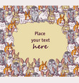 fashion hipster rabbits big group and sky vector image