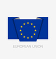 flag of european union flat icon waving flag with vector image