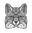 Fox ethnic graphic style with decorative ornaments vector image vector image