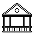 furniture gazebo icon outline style vector image vector image
