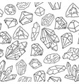 gems on white pattern vector image
