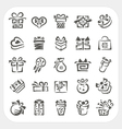 Gift box icons set vector image vector image