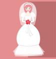 girls in bride costume no10 vector image