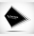 halftone dots circle perspective rhombus frame vector image vector image