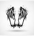 halloween grunge hands vector image vector image