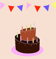 happy birthday background vector image vector image