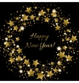 Happy New Year greeting card with golden vector image vector image