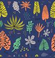 hawaii color hand drawn seamless pattern vector image vector image