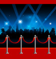 hollywood red carpet background vector image vector image