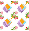 ice cream seamless pattern for design surface vector image vector image