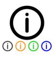 info stroke icon vector image vector image