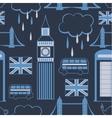 London seamless pattern vector image