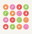 Long Shadow Colorful Icons Set vector image vector image