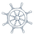 marine symbol steering or rudder wheel ship part vector image vector image