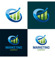 marketing company logo and icon vector image