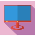 Modern flat design concept icon monitor tv vector image vector image