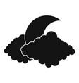 moon icon simple black style vector image