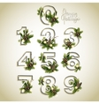 New Year collection of numerals vector image vector image