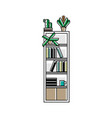 office bookshelf icon in linear style vector image vector image