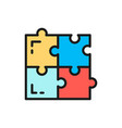 puzzle simple solutions compatibility vector image