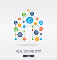 real estate integrated thin line web icons in home vector image