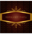 restaurant menu version vector image