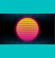 retrowave synthwave vaporwave yellow pink gradient vector image vector image