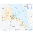 road map east african state eritrea vector image vector image