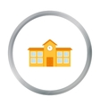 School icon cartoon Single building icon from the vector image vector image