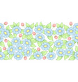seamless pastel full floral brush vector image vector image