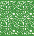 seamless pattern with hand drawn sketched doodle vector image vector image