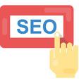 seo flat icon vector image vector image
