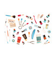set colorful manicure and pedicure equipment vector image vector image