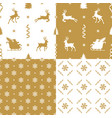 set holidays patterns vector image