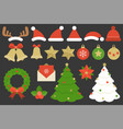 set of elements for christmas vector image vector image
