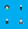 set of simple person icons vector image vector image