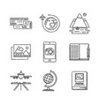set of travel icons and concepts in sketch style vector image