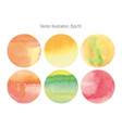 set round set round watercolor vector image