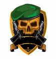 skull handgun army logo cartoon