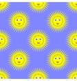 Smiling Yellow Sun Seamless Pattern vector image vector image