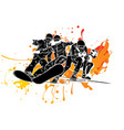 snowboard jump isolated icons winter sports at vector image