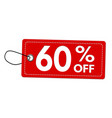 special offer 60 off label or price tag vector image vector image