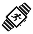 sport smartwatch icon simple style vector image