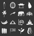sri lanka travel icons set grey vector image vector image