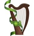 St Patricks Day harp vector image