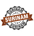 surinam round ribbon seal vector image vector image
